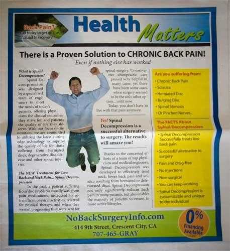 Dr. Gray Chiropractic Tabloid Cover